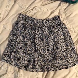 La Hearts Blue and White Floral Skirt